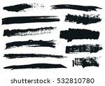 set of black paint  ink brush... | Shutterstock .eps vector #532810780