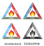 fire triangle or combustion... | Shutterstock .eps vector #532810948