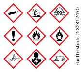 9 new hazard pictogram. hazard... | Shutterstock .eps vector #532812490