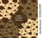 seamless pattern of coffee...   Shutterstock .eps vector #532812559