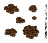 coffee beans set on white... | Shutterstock .eps vector #532814068