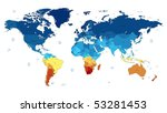 detailed vector world map of... | Shutterstock .eps vector #53281453