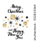 snowflakes holiday background   Shutterstock .eps vector #532815364