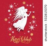 angel greeting card   Shutterstock .eps vector #532815370