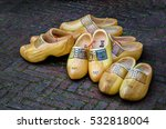 Traditional Wooden Shoes On Th...
