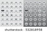 emoticons  vector gray icons... | Shutterstock .eps vector #532818958