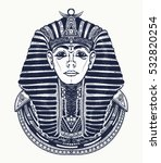 pharaoh tattoo art  egypt... | Shutterstock .eps vector #532820254