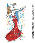 carnival dancers. colorful... | Shutterstock .eps vector #532821844