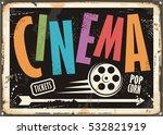cinema vintage signboard design ... | Shutterstock .eps vector #532821919