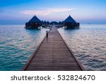 vacation on a tropical island.... | Shutterstock . vector #532824670