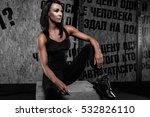 beautiful girl fitness bikini... | Shutterstock . vector #532826110