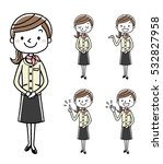 business woman  set  variation | Shutterstock .eps vector #532827958