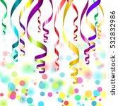 confetti and streamers | Shutterstock . vector #532832986
