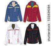 sport jacket set on white... | Shutterstock . vector #532834084
