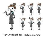 business woman  set  variation | Shutterstock .eps vector #532836709