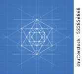 metatrons cube  a vector... | Shutterstock .eps vector #532836868