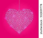 light heart hanged on red...   Shutterstock .eps vector #532839778
