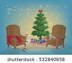 merry christmas interior with... | Shutterstock .eps vector #532840858