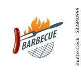 barbecue logo  vector | Shutterstock .eps vector #532840999