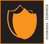 shield web icon vector.