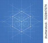 hexahedron  a vector... | Shutterstock .eps vector #532847074