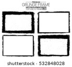 grunge frame texture set  ... | Shutterstock .eps vector #532848028