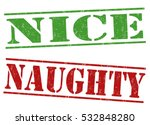 naughty and nice grunge rubber... | Shutterstock .eps vector #532848280