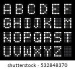 digital terminal table led font ...   Shutterstock .eps vector #532848370