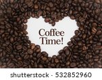 background made of coffee beans ... | Shutterstock . vector #532852960