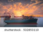logistics and transportation of ... | Shutterstock . vector #532853110