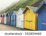A Row Of Colourful Wooden...