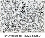 vector illustration of cute... | Shutterstock .eps vector #532855360