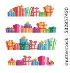 gift box.presents.shopping.... | Shutterstock .eps vector #532857430