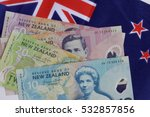 new zealand flag and money... | Shutterstock . vector #532857856