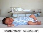 sweet newborn little baby lying ... | Shutterstock . vector #532858204