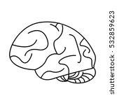 human brain idea creativity... | Shutterstock .eps vector #532859623