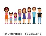 cartoon young people smiling...   Shutterstock .eps vector #532861843