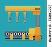 robotic production line... | Shutterstock .eps vector #532862029