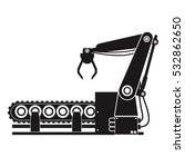 silhouette robotic production... | Shutterstock .eps vector #532862650