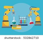 industrial robotic arm chemical ... | Shutterstock .eps vector #532862710