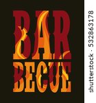 colorful barbecu grill design.... | Shutterstock .eps vector #532863178