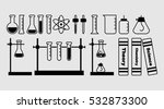 set chemical flask. erlenmeyer... | Shutterstock .eps vector #532873300