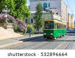 public transport  retro tram in ... | Shutterstock . vector #532896664