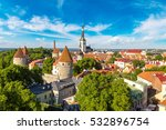aerial view of tallinn old town ... | Shutterstock . vector #532896754