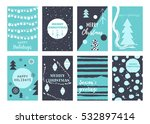 vector set cards with christmas ... | Shutterstock .eps vector #532897414