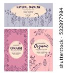 vector vintage template label... | Shutterstock .eps vector #532897984