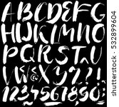 hand drawn dry brush font.... | Shutterstock .eps vector #532899604