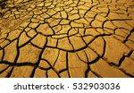 Golden Crack Earth  Dry Ground...