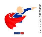 superhero silhouette vector... | Shutterstock .eps vector #532910608