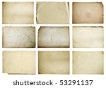 old papers set isolated on... | Shutterstock . vector #53291137